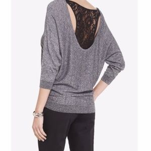 {Express} Lace Racer Back Dolman Sweater
